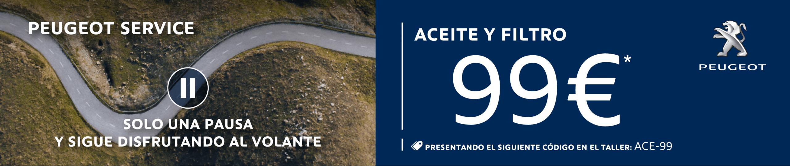 Oferta Aceite y Filtro 99€